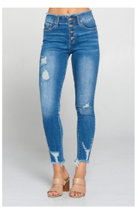 Button Down, Ankle Skinny Jean