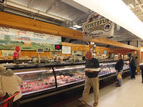 Stoltzfus Meats meat and deli store display case