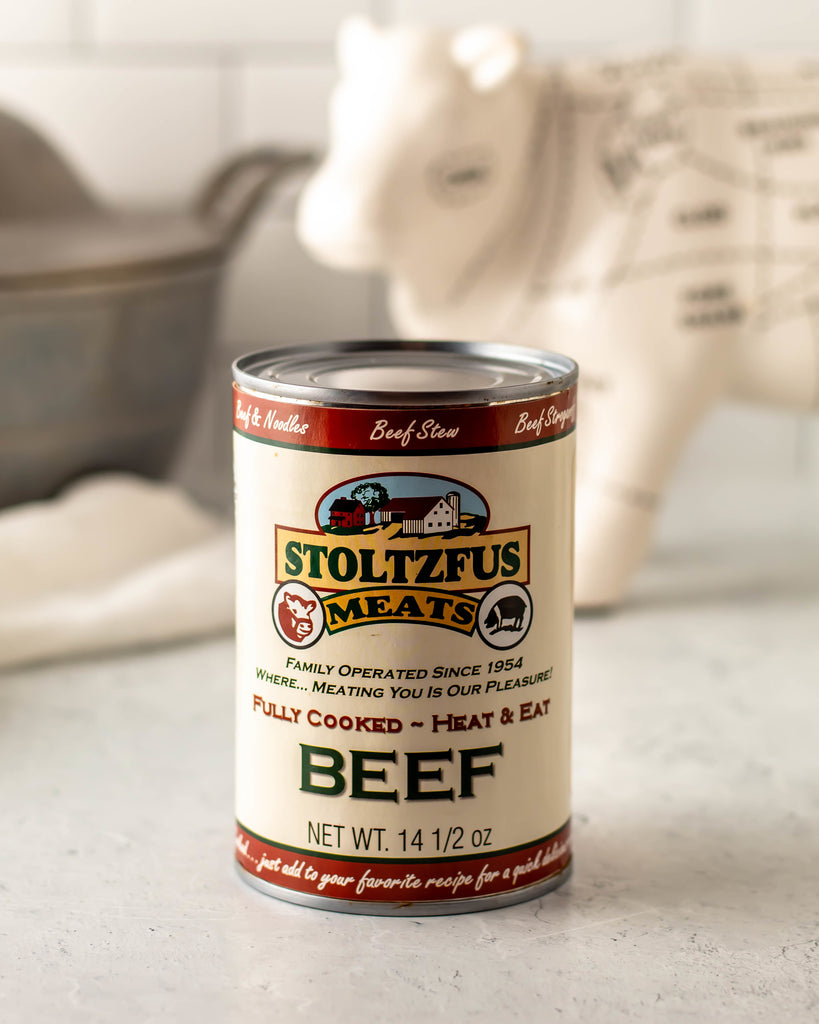 Canned Beef, Pork, or Chicken - Stoltzfus Meats
