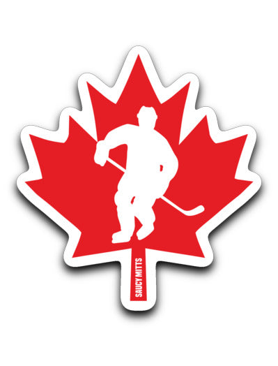 Canada Hockey Player Decal