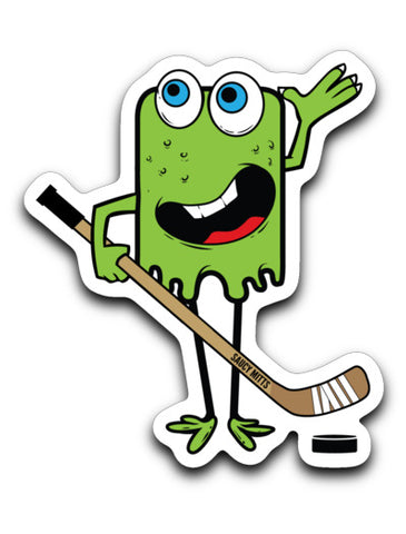 Green Hockey Monster Decal