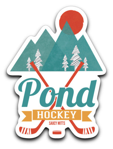 retro pond hockey decal