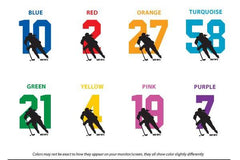 player number color chart