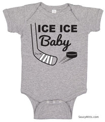 Ice Ice Baby Bodysuit heather gray