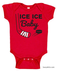 Ice Ice Baby Bodysuit red