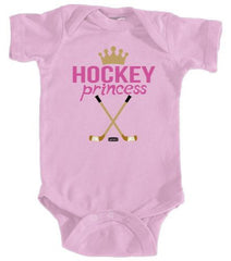 baby hockey princess infant bodysuit pink