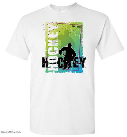 Abstract Hockey Kids youth Hockey Shirt white
