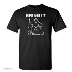 bring it hockey goalie shirt black