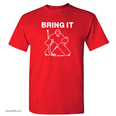 bring it hockey goalie shirt red