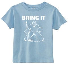 Bring It Hockey Goalie Toddler Shirt light blue