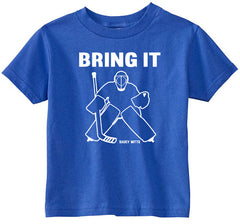Bring It Hockey Goalie Toddler Shirt royal blue