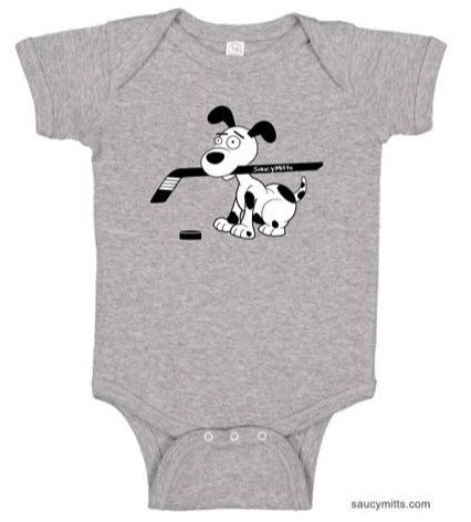 Cartoon Hockey Dog Infant Bodysuit