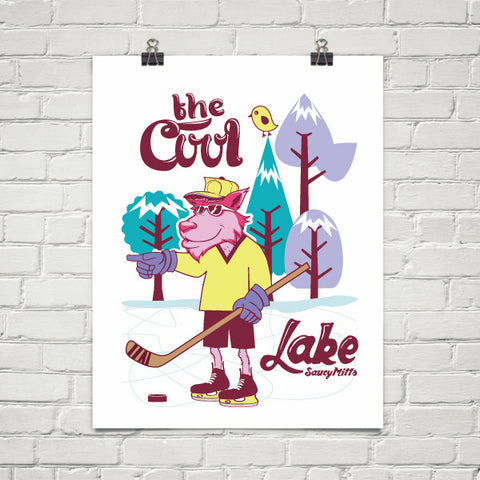 Cool Hockey Wolf Poster