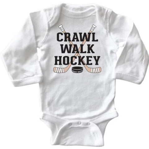 Crawl Walk Hockey Infant Long Sleeve Bodysuit