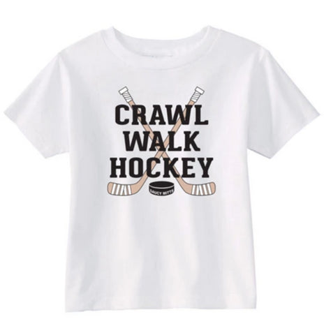 Crawl Walk Hockey Infant Toddler Shirt