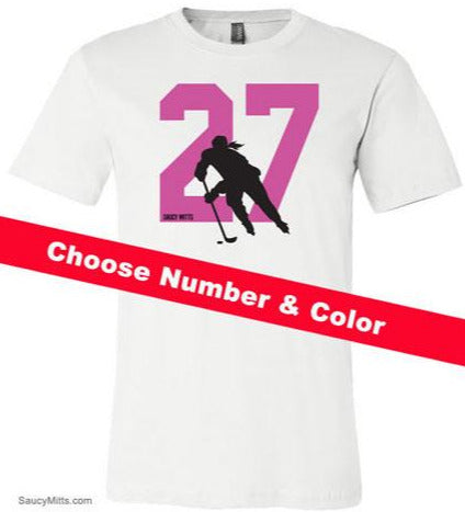 Women's Custom Hockey Number Shirt