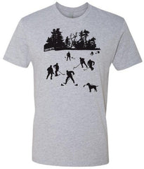 day on the lake hockey shirt heather gray