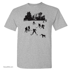 day on the lake kids hockey shirt heather gray