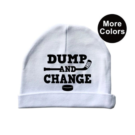Dump and Change Hockey Baby Beanie