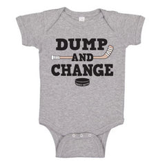 dump and change infant bodysuit color heather gray