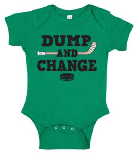 dump and change infant bodysuit color kelly green