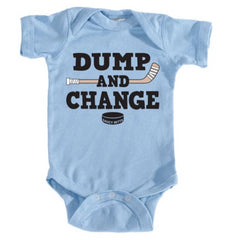 dump and change infant bodysuit color light blue