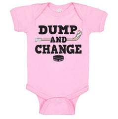dump and change infant bodysuit color pink