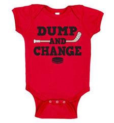 dump and change infant bodysuit color red