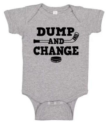 Dump and Change Hockey Infant Bodysuit
