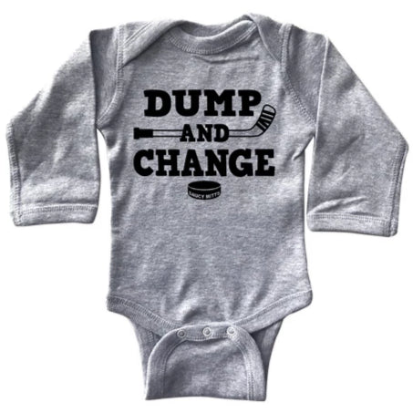 Dump and Change Hockey Long Sleeve Bodysuit