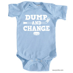 Dump and Change Hockey Infant Bodysuit White light blue