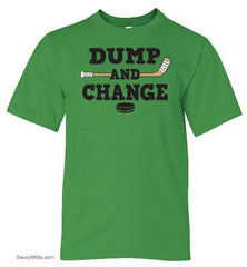 Dump and Change Youth Hockey Shirt Color green apple