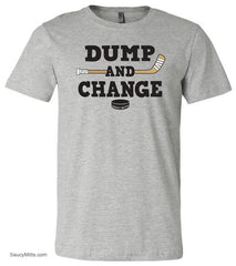 Dump and Change Youth Hockey Shirt Color heather gray