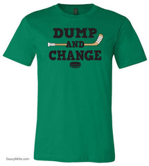 Dump and Change Hockey Shirt kelly green