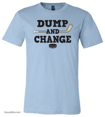 Dump and Change Youth Hockey Shirt Color light blue