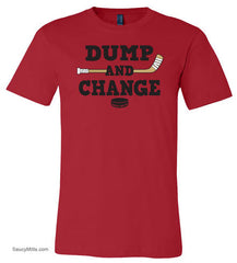 Dump and Change Youth Hockey Shirt Color red