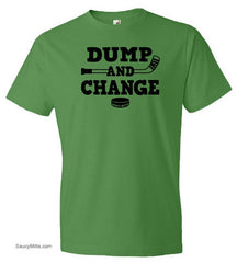 Dump and Change Youth Hockey Shirt green apple