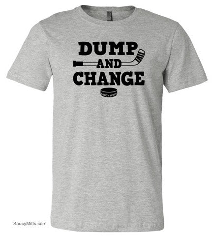 Dump and Change Youth Hockey Shirt heather gray