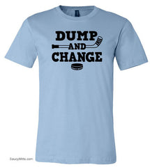 Dump and Change Youth Hockey Shirt light blue