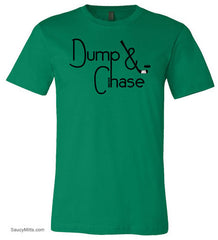 Dump and Chase Hockey Shirt kelly green
