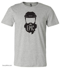 epic hockey beard shirt heather gray