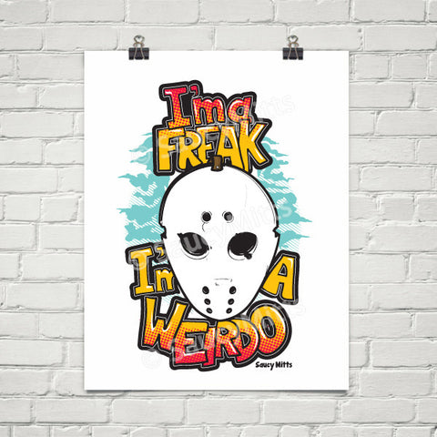 Freak Weirdo Goalie Mask Hockey Poster