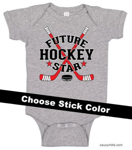 Future Hockey Star Baby Bodysuit