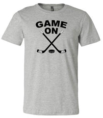 game on hockey shirt heather gray