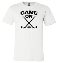 game on hockey shirt white