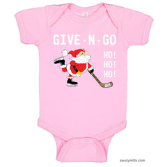 Give N Go Hockey Santa Baby Bodysuit light pink girl