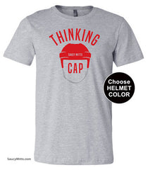 hockey thinking cap shirt heather gray