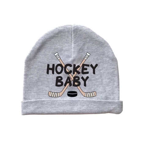 hockey baby beanie cap hat heather gray