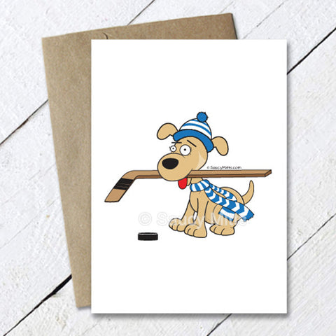 Hockey Dog Greeting Card