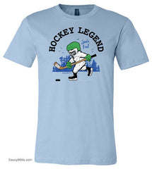 Hockey Legend Bigfoot Youth Shirt light blue